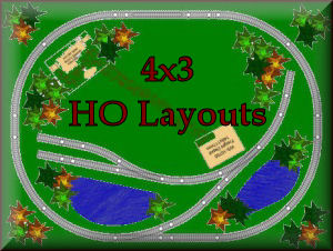 See all the 4x3 HO scale model train sets layouts krafttrains.com can offer you. Build your dream 4x3 HO scale model railroad that you always you wanted. So start with KraftTrains.com and see how to start building your own 4x3 HO scale train set layout.