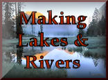 Making Your Own Lakes & Rivers for your model train set landscaping and model railroading experience at KraftTrains.com.