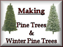 Making Handmade Pine Trees & Winter Pine Trees adds an extra scenic dimension to any model railroad. They aesthetically enhance landscapes with their colour and texture, helping scenery to appear more well balanced and natural. I would personally recommend to all model railroaders to apply this type of terrain to their models in order to get the fullest level of visual pleasure.