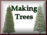 Making Your Own Trees for your model train set landscaping and model railroading experience at KraftTrains.com.