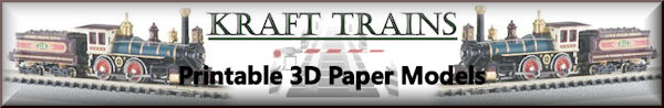 Making your own free 3D printable paper model buildings & structures for your model Railroading. Making model train buildings & structures for N scale, HO scale, O scale in PDF files. Designing model train buildings in a PDF files by krafttrains.com.