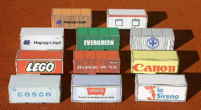 Target Toy Trains : Free printable n scale shipping and cargo containers for