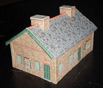 Make your own free printable engineering shed offices HO scale at www.KraftTrains.com. Just download the free PDF file, print the PDF file onto 110 lb. printable card stock and build. This HO scale free printable engineering shed offices was curated by Wordsworth www.wordsworthmodelrailway.co.uk.
