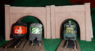 Make your own printable HO scale model train set tunnel portals for your HO scale model railroading train set experience. Download your free model train set tunnel portals for your HO scale model train set.
