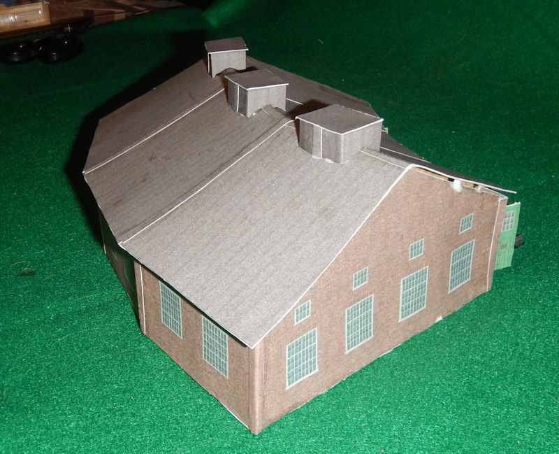 It is a picture of Printable Model Railroad Buildings intended for 172 paper