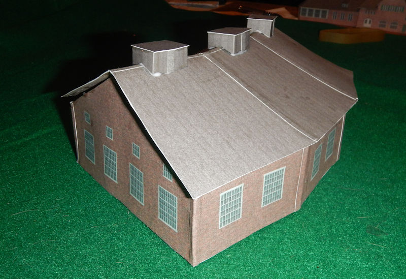 photograph relating to Printable Model Railroad Buildings titled Deliver your particular N Scale 3 Bay Type Prepare Fixed Roundhouse.