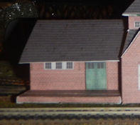 Build your own free N scale small town passenger train station model for your model train set or small town setting in N gage.  Just download the free PDF File and then print out on card stock paper. Printable n scale small town passenger train station 160 scale is ready for your n gage train set.