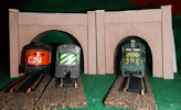 Make your own printable N scale model train set Brown Stone tunnel portals for your N scale model railroading train set experience. Download your free model train set Brown Stone tunnel portals for your N scale model train set.