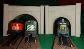 Make your own printable N scale model train set Gray Stone tunnel portals for your N scale model railroading train set experience. Download your free model train set Gray Stone tunnel portals for your N scale model train set.