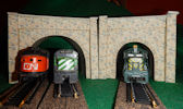 Make your own printable N scale model train set Multicolored Stone tunnel portals for your N scale model railroading train set experience. Download your free model train set Multicolored Stone tunnel portals for your N scale model train set.