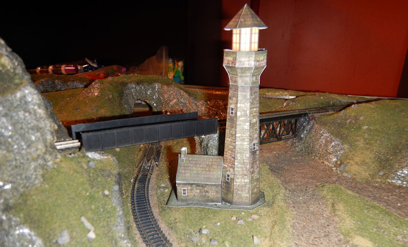 image regarding Printable N Scale Track Template titled Produce Create your private N Scale Stone Lighthouse Type.