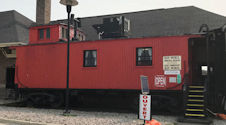 The little red caboose (#75848) serves as a gift shop and office. Souvenirs are obviously train-related, but Town of Kapuskasing trinkets are also available.