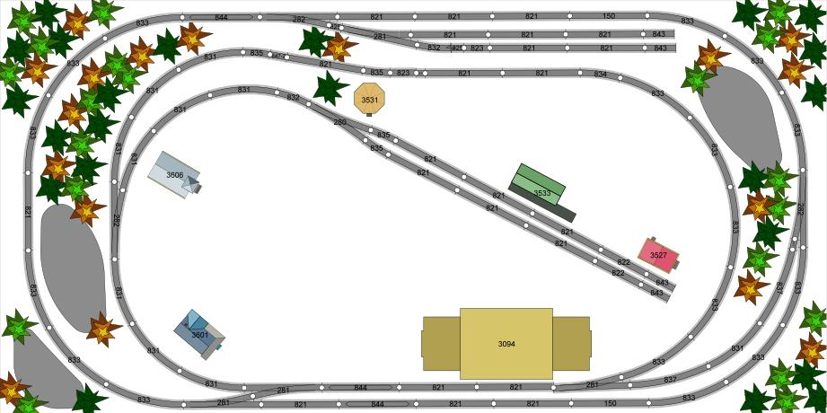HO Scale Layout 4x8 model Railroading Trains set Layout 2