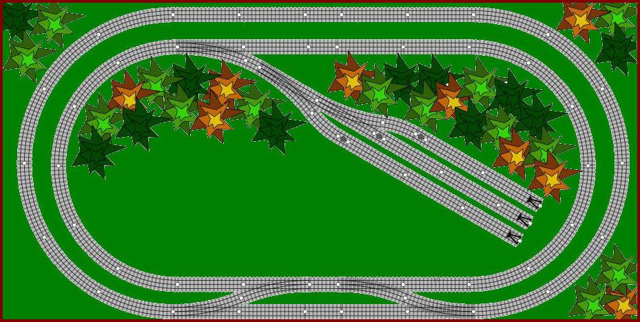 O Scale Model Train Set Layouts 6 4x8 Track Plans